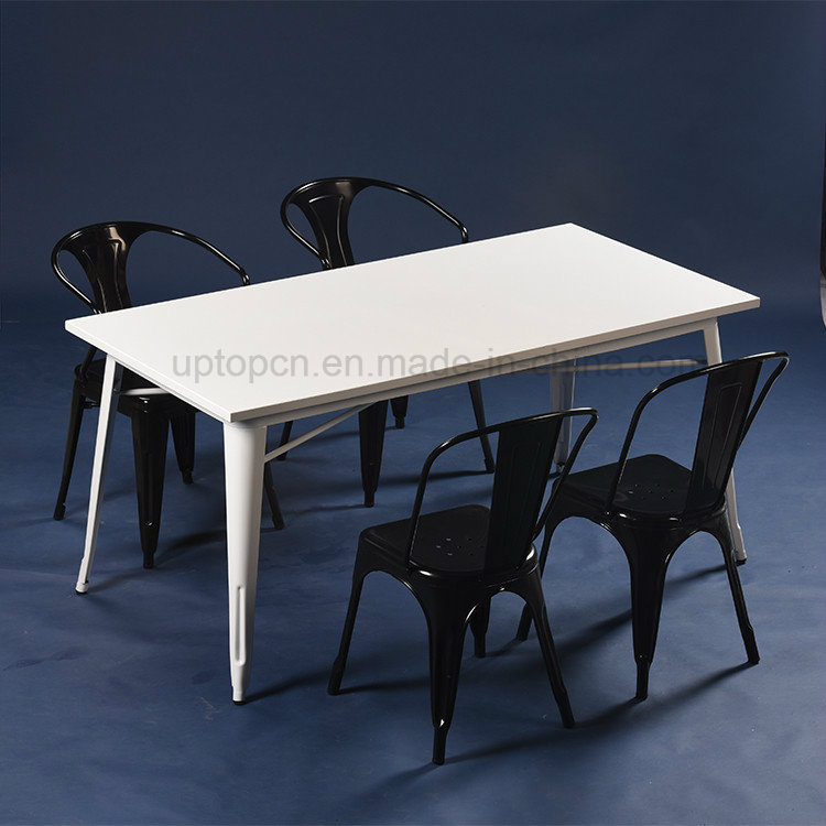 Commercial 4 Seater Industrial Tolix Cafe Table Set (SP-CT674)