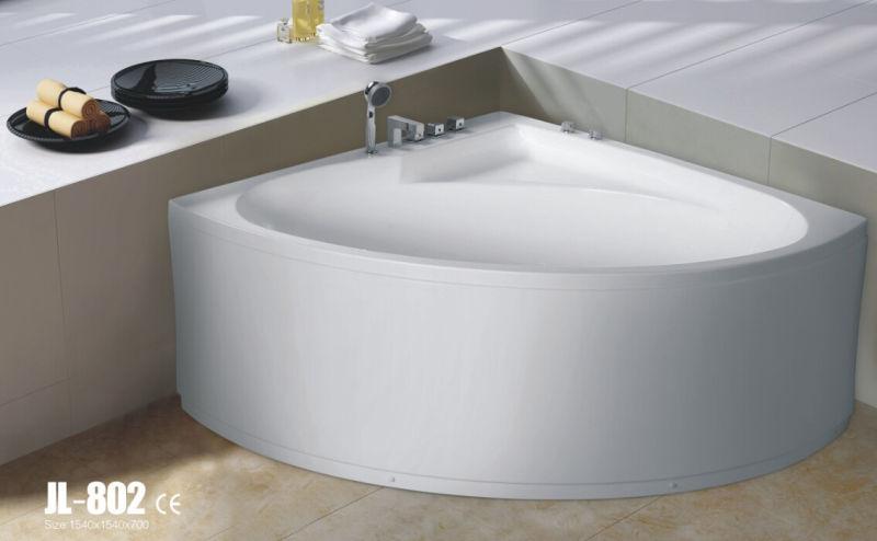 Luxury Whirlpool Corner Massage Bathtub (JL802)