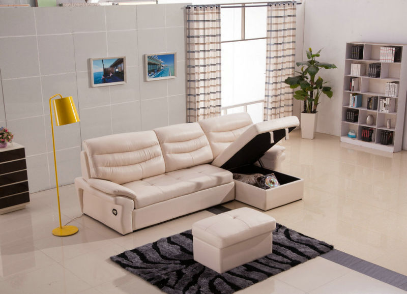 Sectional Leather Recliner Sofa for Living Room Furniture (973)