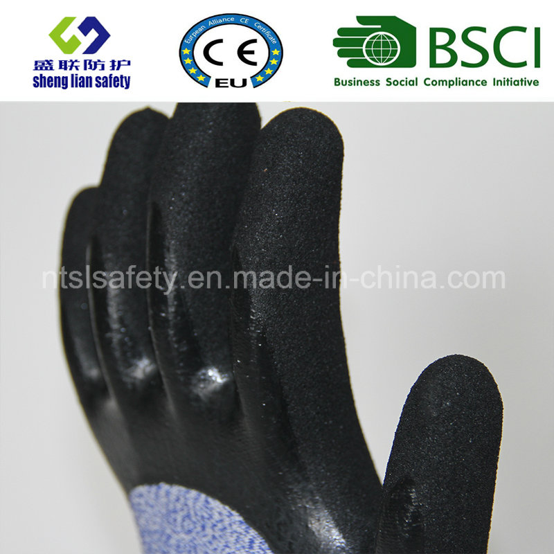 Cut Resistant Safety Work Glove with Sandy Nitrile Coated