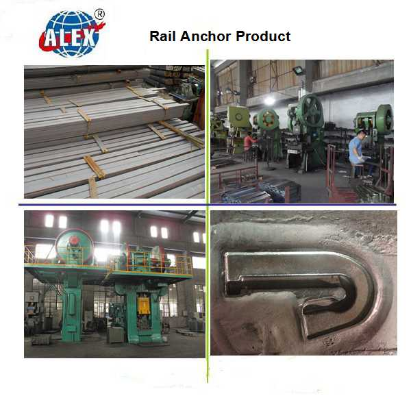 High Tensil Rail Anchor for Railway Steel Rail Fastening