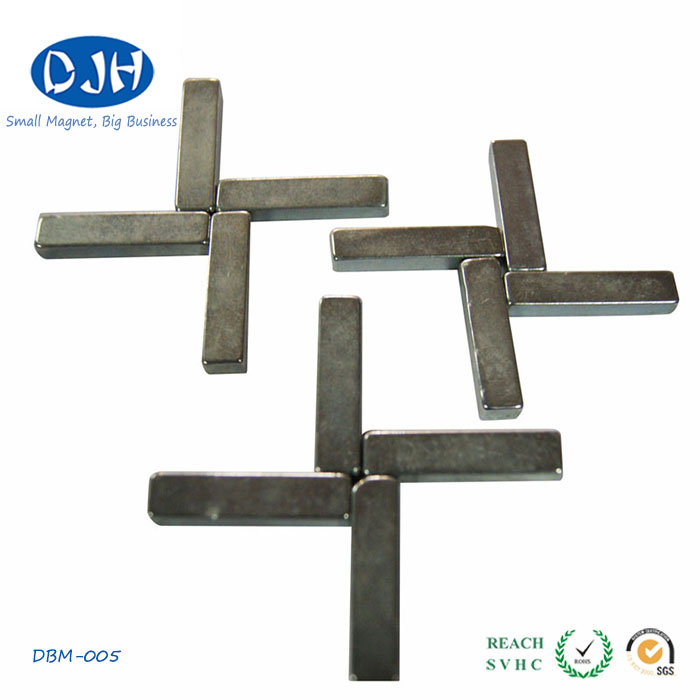 Block Shaped Magnet Coated with Nickel-Copper-Nickel