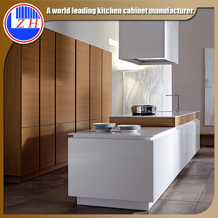 Glossy Wood Kitchen Cabinets (customzied)