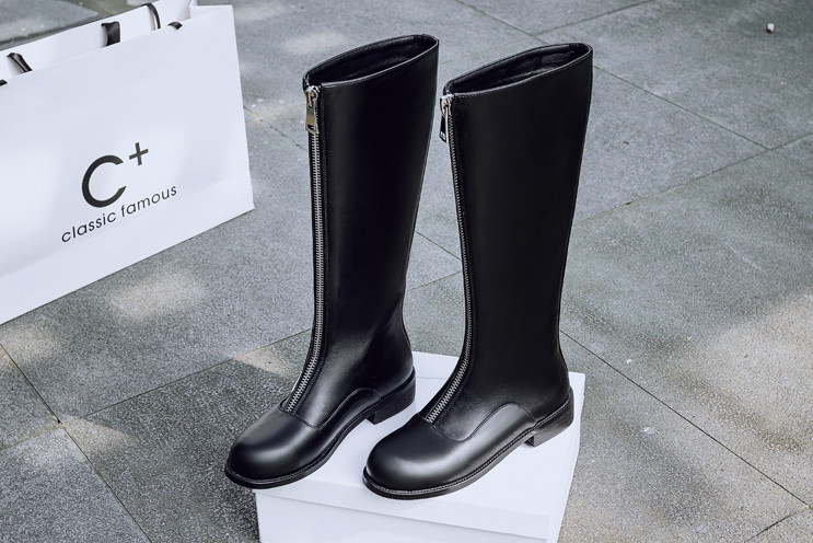 New Arrival Knee-High Fashion Boots with Double Zipper (YX-1)