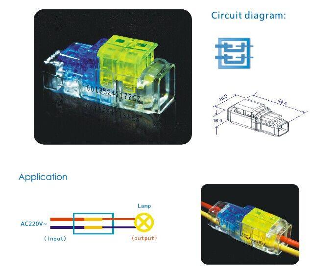 Unequl Diamater 2 Pin to 2 Pin Terminal Block and Connectors