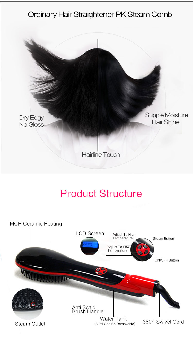 Hair Products Best Hair Styler LCD Straightener