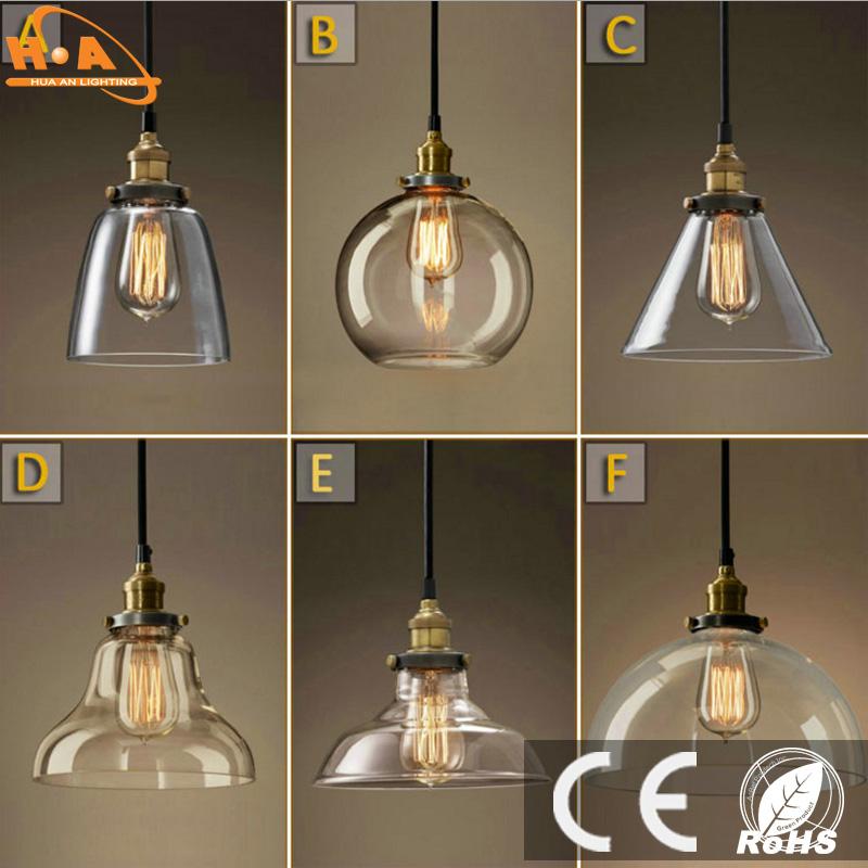 Vintage Decor Light Glass Pendant Lamp with E27 Screw