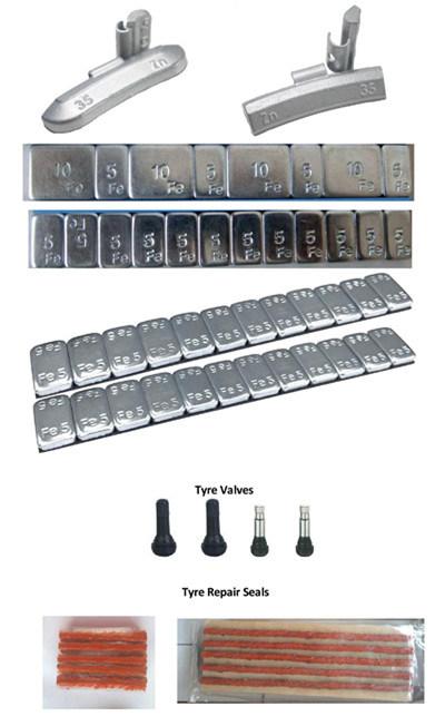 Steel Wheel Balance Weights (Fe Adhesive, Fe Clip On)