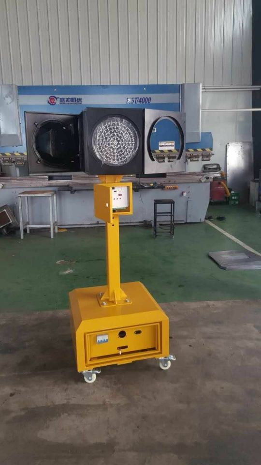 8 Inch Solar LED Traffic Flash Lamp / Traffic Warning Blinker