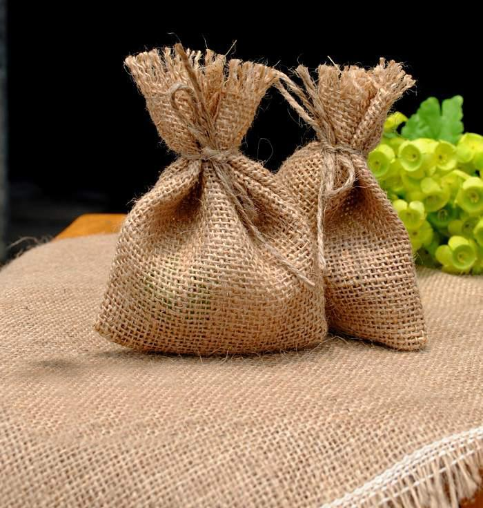 Eco Recyclable Gift Packaging Gunny Jute Bag