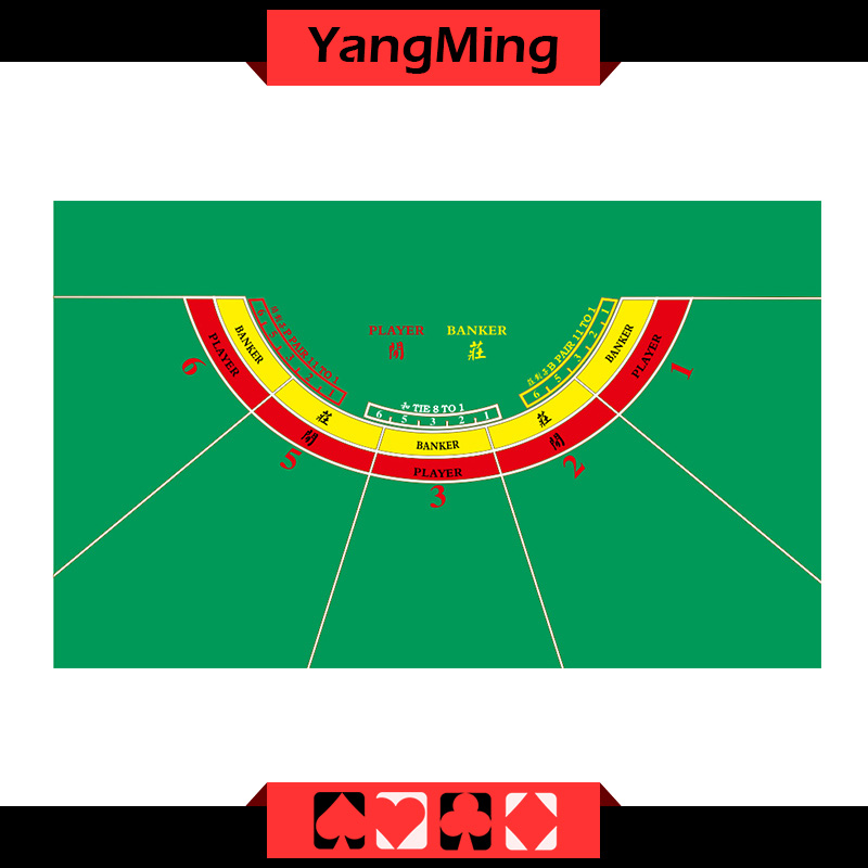 Baccarat Table Layout -5 P (YMBL28G)