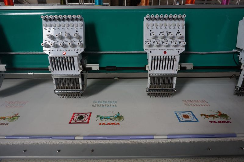9 Needles 15 Heads Flat Embroidery Machine (with cutter)