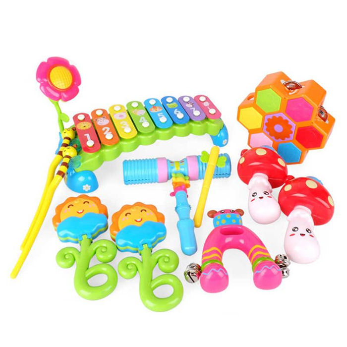New Design 6PCS Baby Orff Instruments Set Preschool Musical Toys for Kids