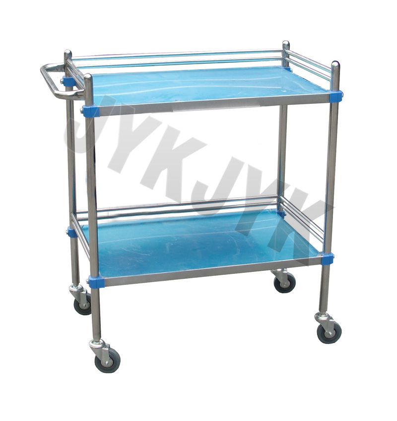 Stainless Steel Treatment Trolley with Two Shelves