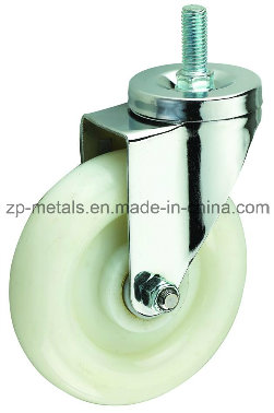 Medium Sized White PP Thread Caster Wheel