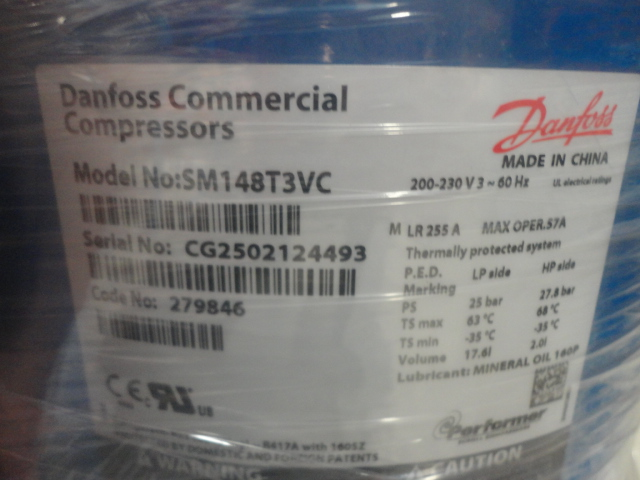 Danfoss Commercial Compressor (SM148T3VC)