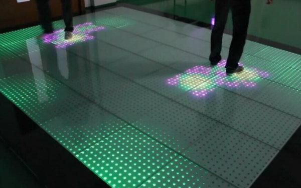 Tempered Glass Portable Interactive LED Dance Floor Light 3D Infinity Dance Floor