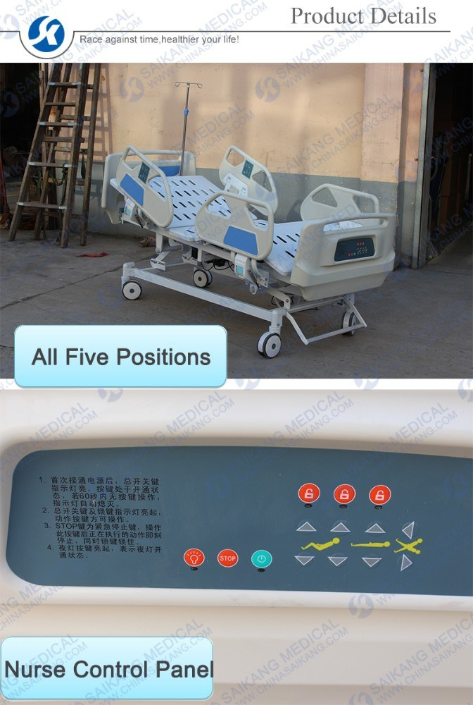 ABS Multi-Functions Medical Customization Foldable Hospital Sick Bed