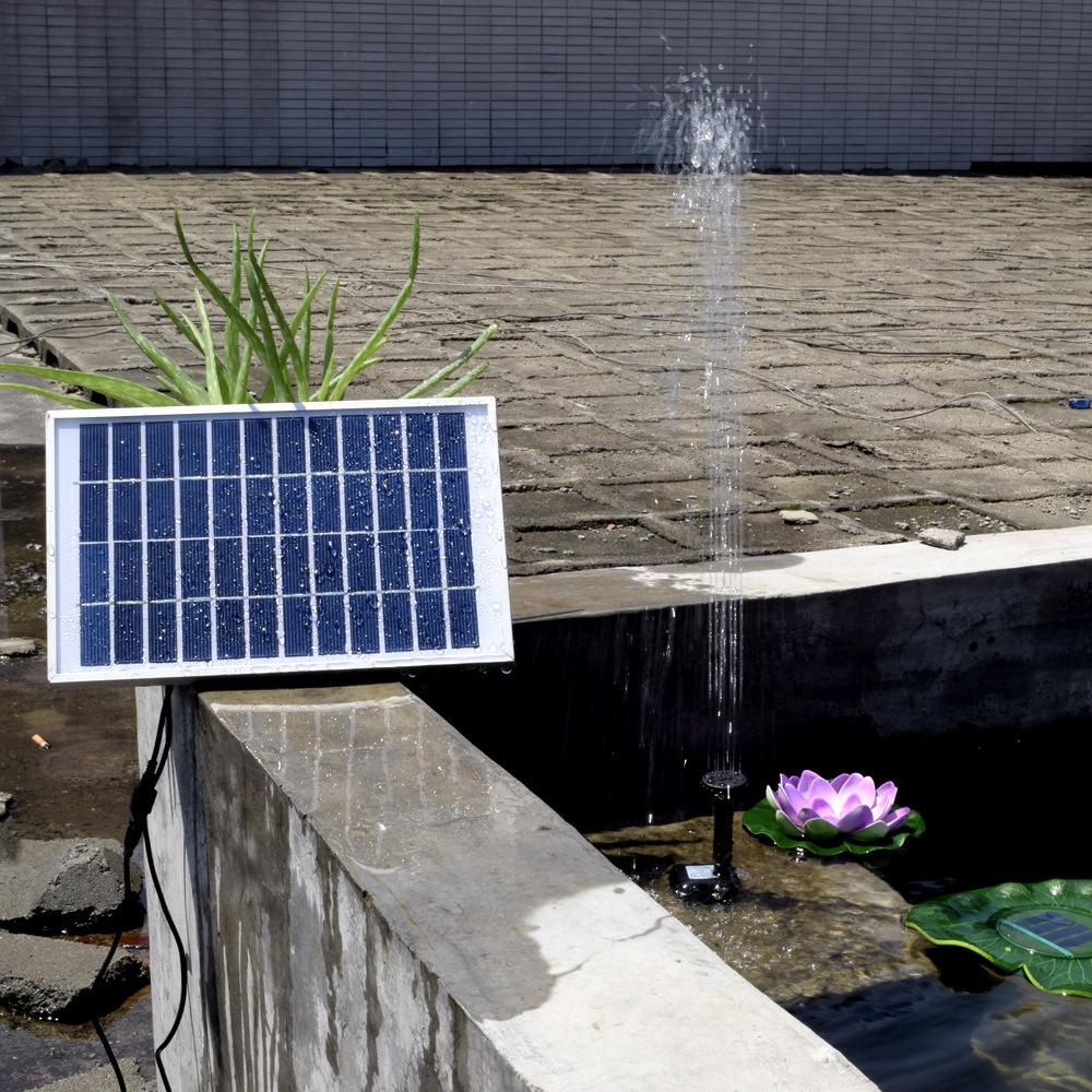 12V 5W Solar Fountain DC Brushless Mini Solar Water Pump Landscape Decorative Pool Solar Garden Water Pump Kit