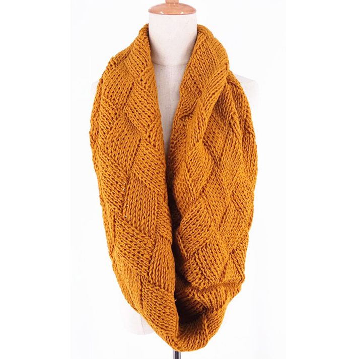Womens Unisex Neck Warmer Fancy Knitting Thick Winter Loop Snood Scarf (SK156)