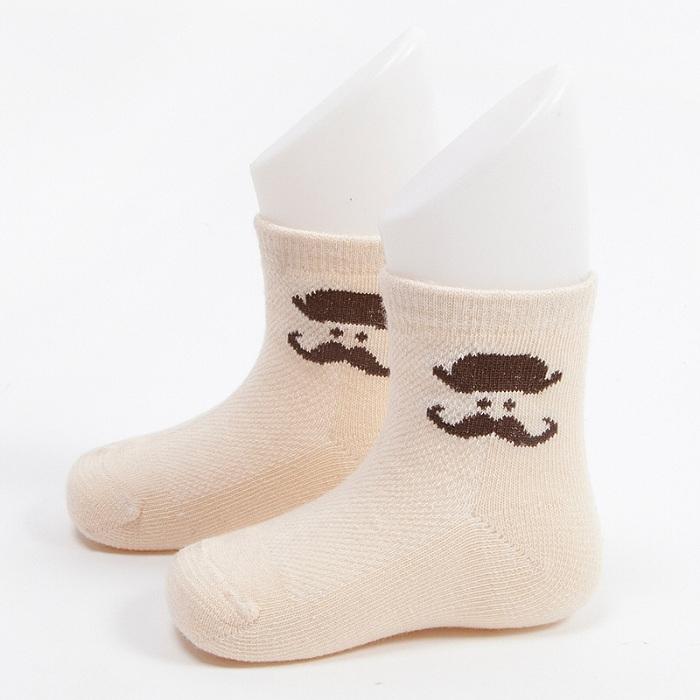 Hot Sale Boys Crew Cotton Socks with Moustache Designs