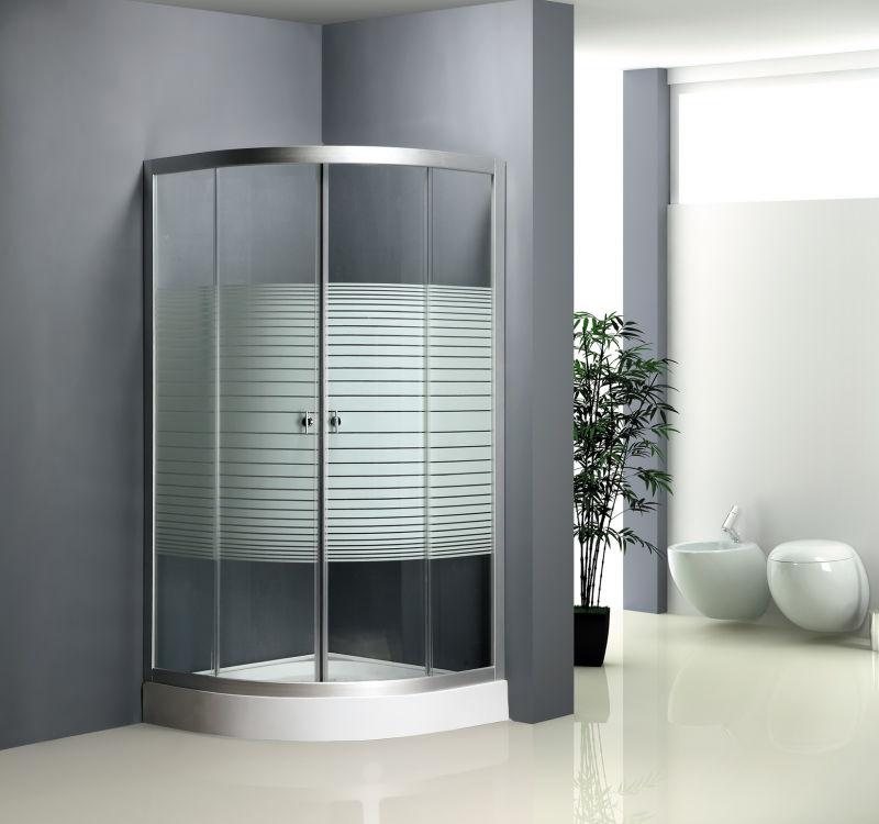 4mm Stripe Glass Sector Shower Enclosure (ADL-8012C)