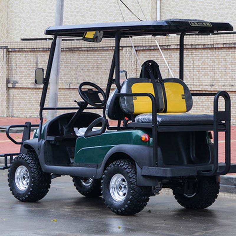 48V Battery Operated 4 Passengers Electric Shopping Cart for Sale