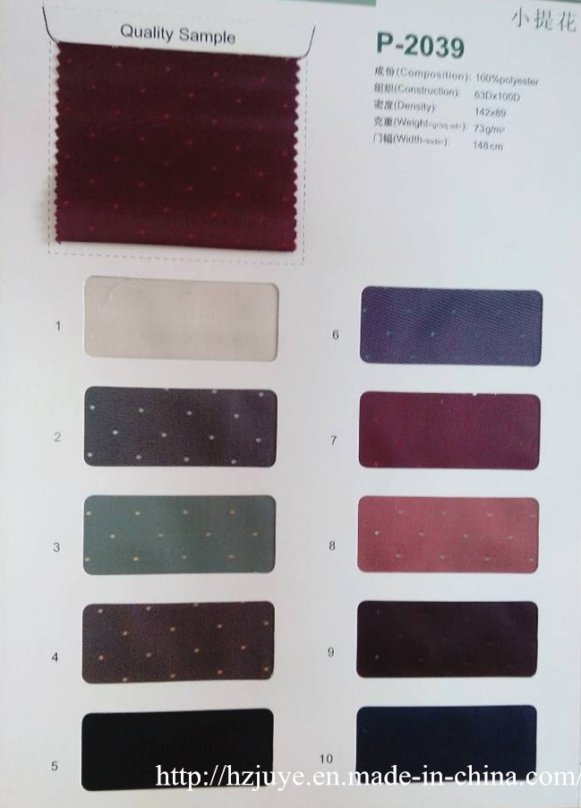 Polyester Lining Fabric with Dobby Design