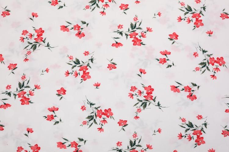 Floral Dress Jacquard Printed Rayon Fabric