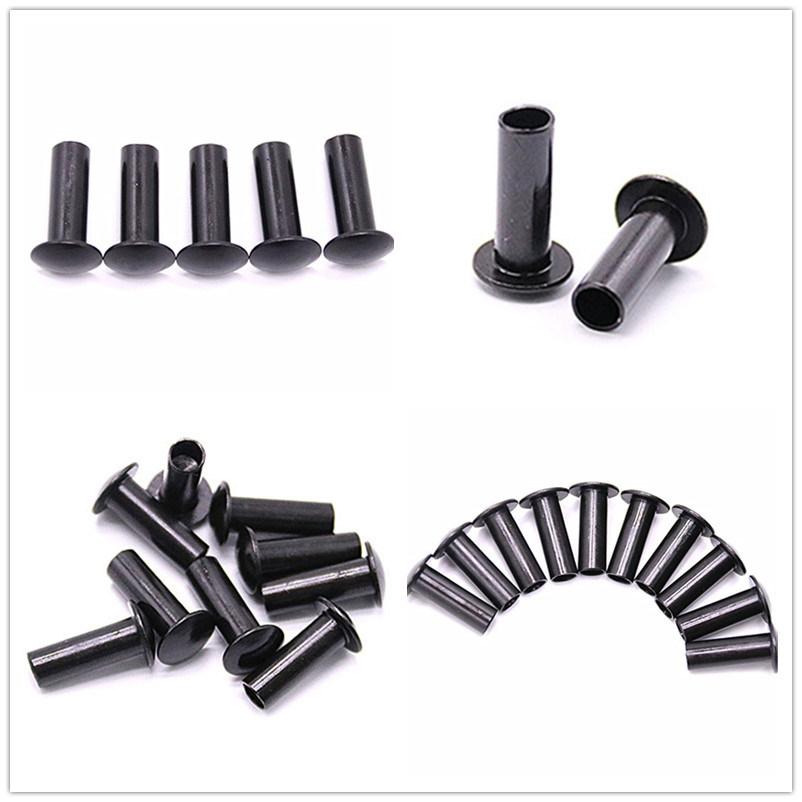 Double Flat Head Semi Tubular Rivets, Stainless Steel Blind Rivets