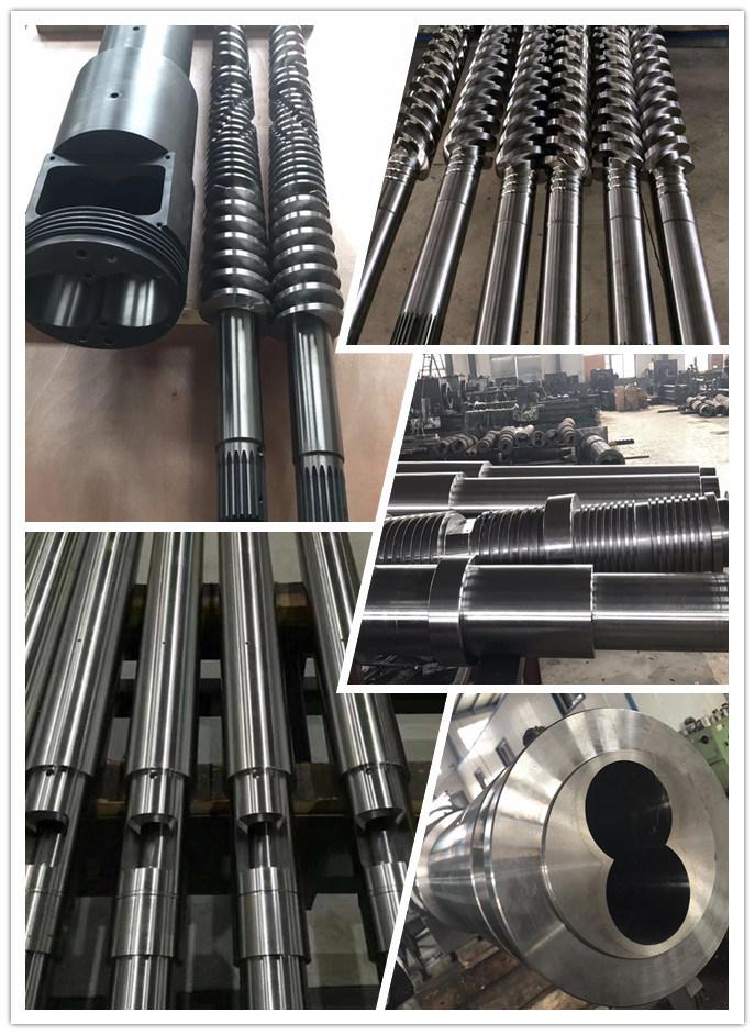 Extruder Conical Twin Screw Barrel for Masterbach/Pelletizing/Granules