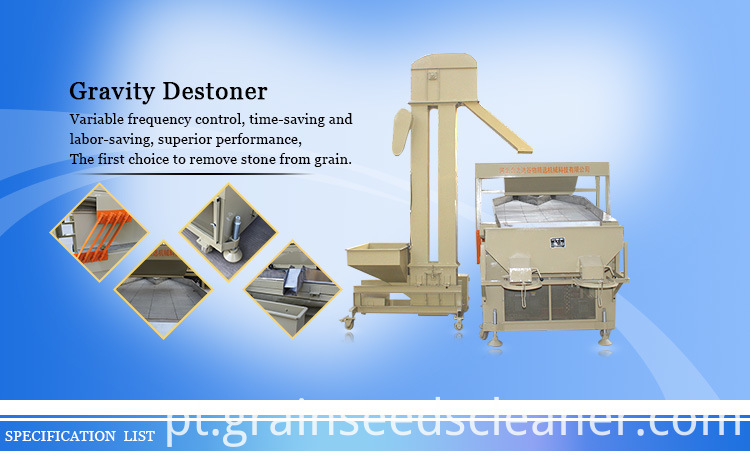 Grain Seed Cleaning Gravity Destoner Machine