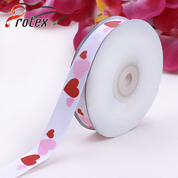 Heart Shape Printed Ribbon