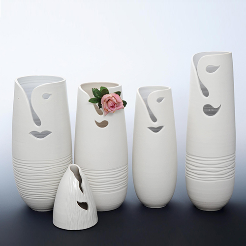Wholesale Custom Ceramic Flower Urn for Gardening Decal (K0012)