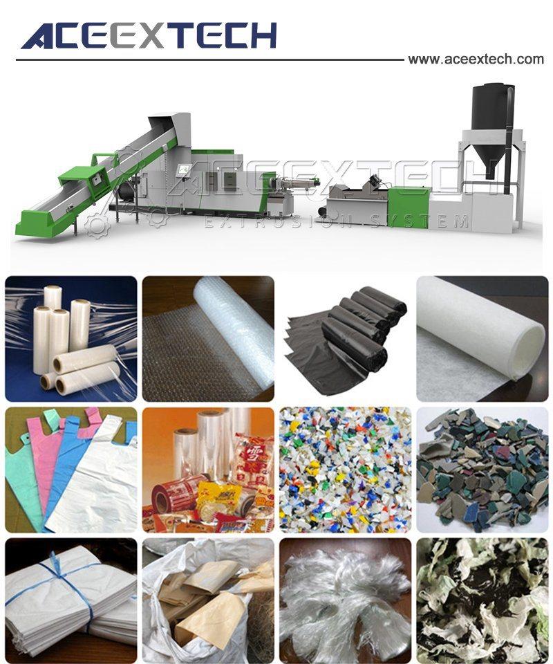 Single Screw Plastic Recycling Granulating Line