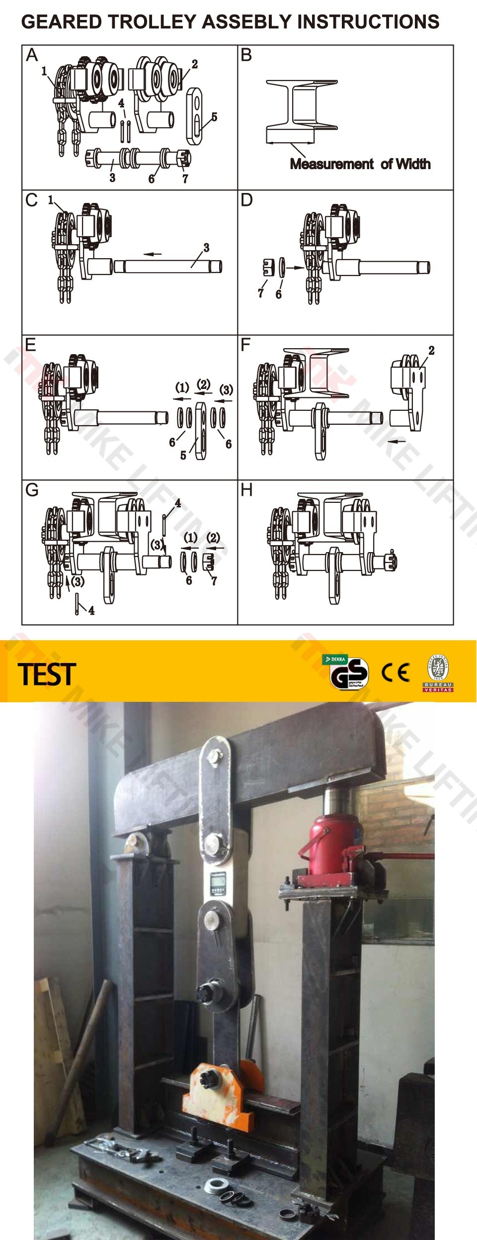 1ton Manual Platform Monorail Trolley