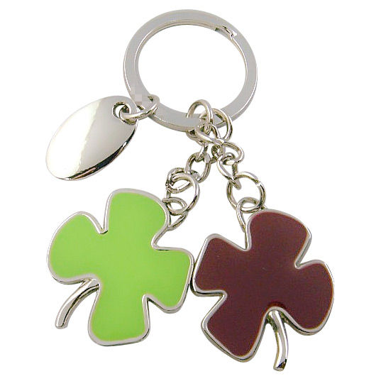 Promotion Customized Enamel Cmyk Printing Logo Epoxy Key Chain (F1117)