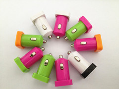 5V 1A Single USB Micro USB Car Charger for Mobile Phones