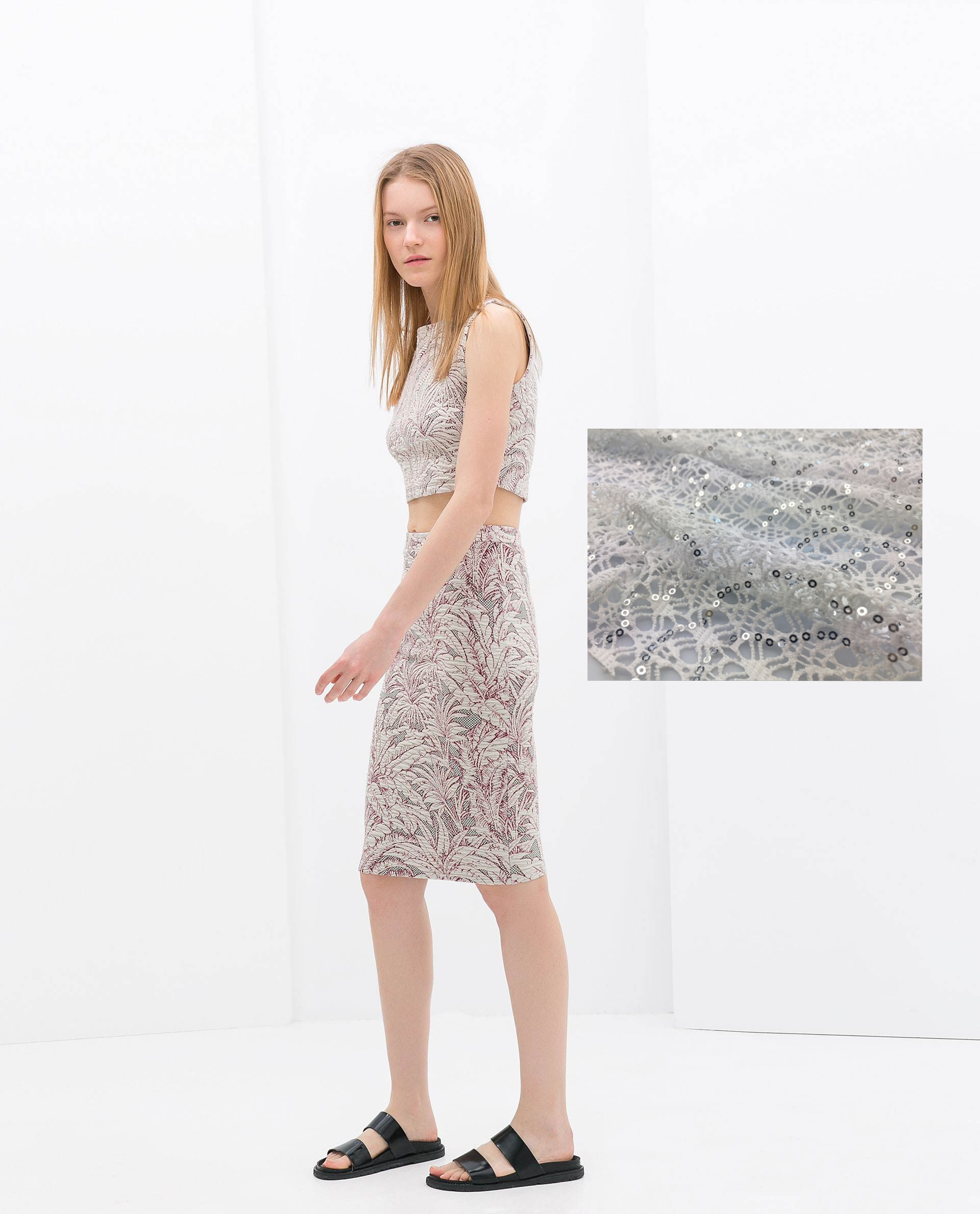Polyester Water Soluble Embroidered Lace Ladies Dress Fabric