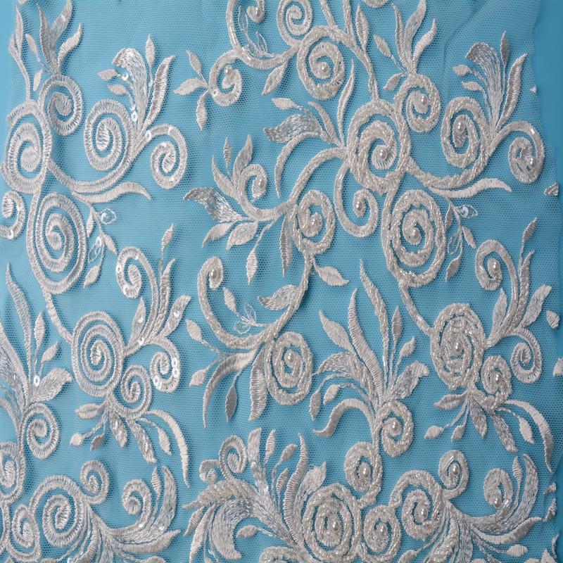 3d bridal fabric