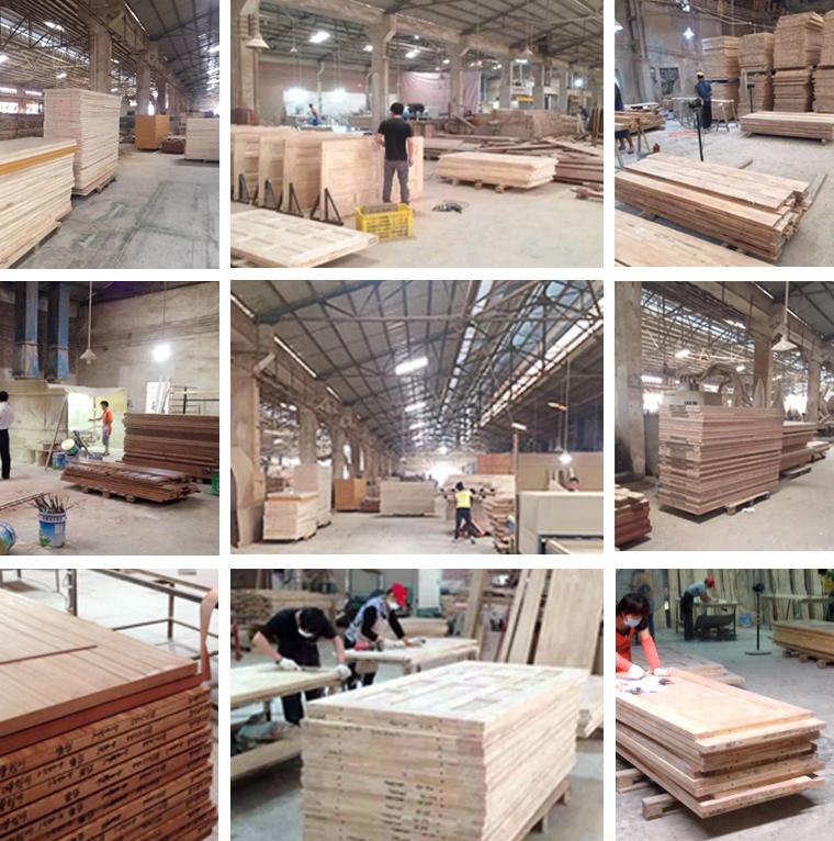 Wooden Veneer Raised Panel Classical Rail and Stile Door Factory