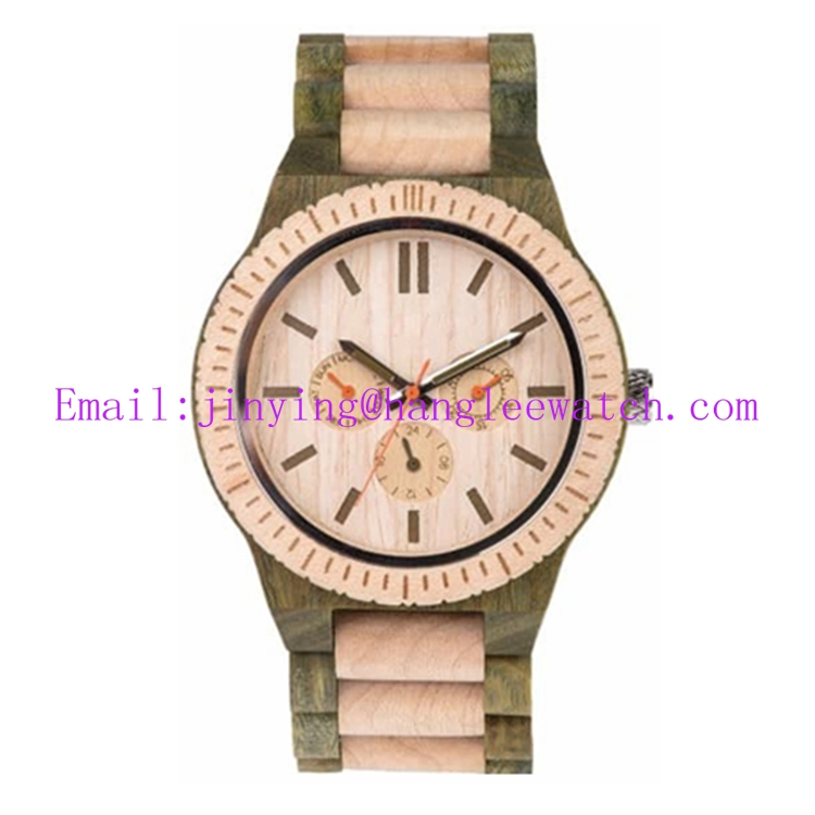 OEM New Walnut Watch Pure Natural Wooden Watch
