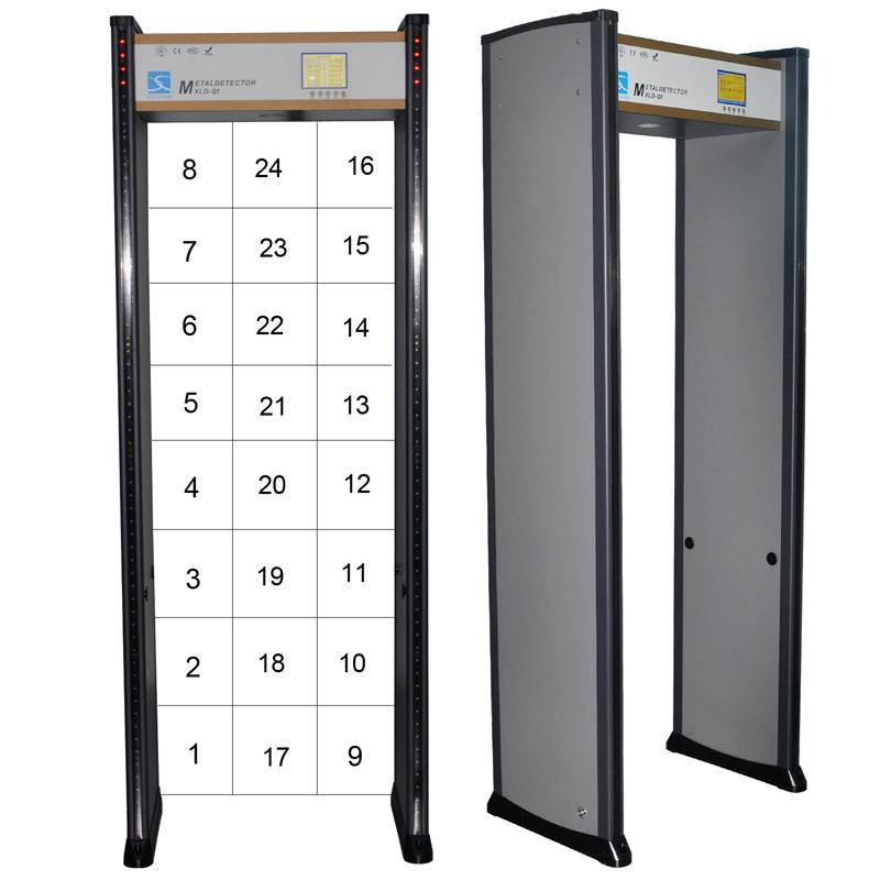 Multi Zones Door Frame Walk Through Metal Detector Gate