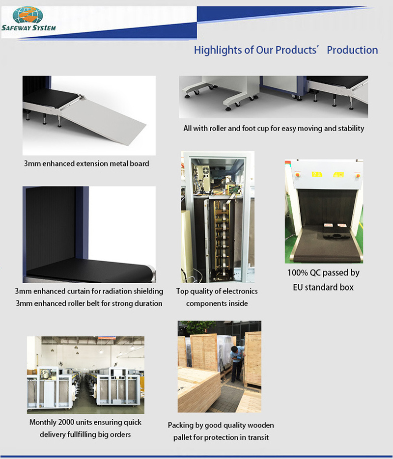 X-ray Baggage Scanner Security X Ray Screen Inspection Equipment