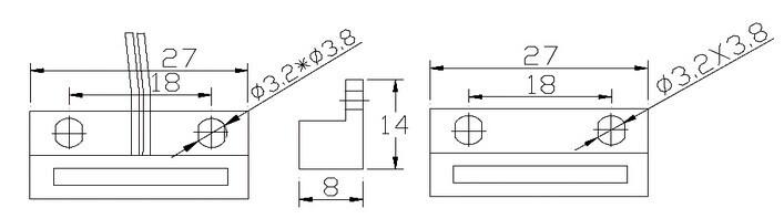 Surface Mounted Door Magnetic Contact for Wooden Door /Window (MC-38B)