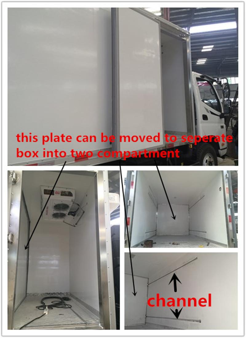 20cub Meters Medical Waste Transfer Van Meat Delivery Refrigerator Truck