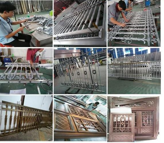 Metal Fence for Galvanized Wrought Iron Garden Fance and Handrail