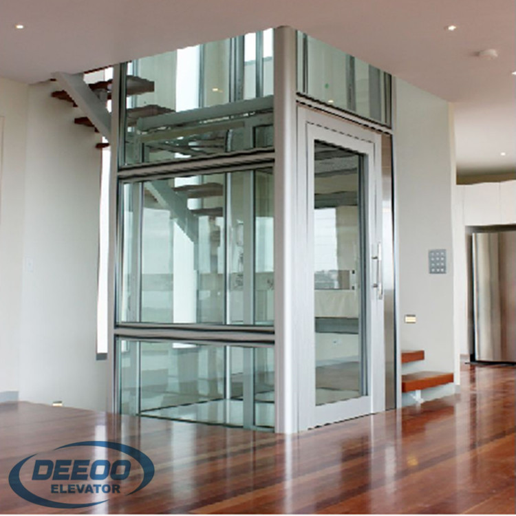 Home Glass Lift Commercial Small House Residential Passenger Elevator