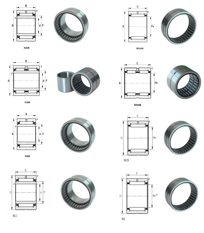 Entity Bushed Needle Roller Bearing Double Row Na