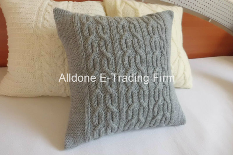 New Design Fashion 100% Hand Knit Pillow Cushion Covers Case